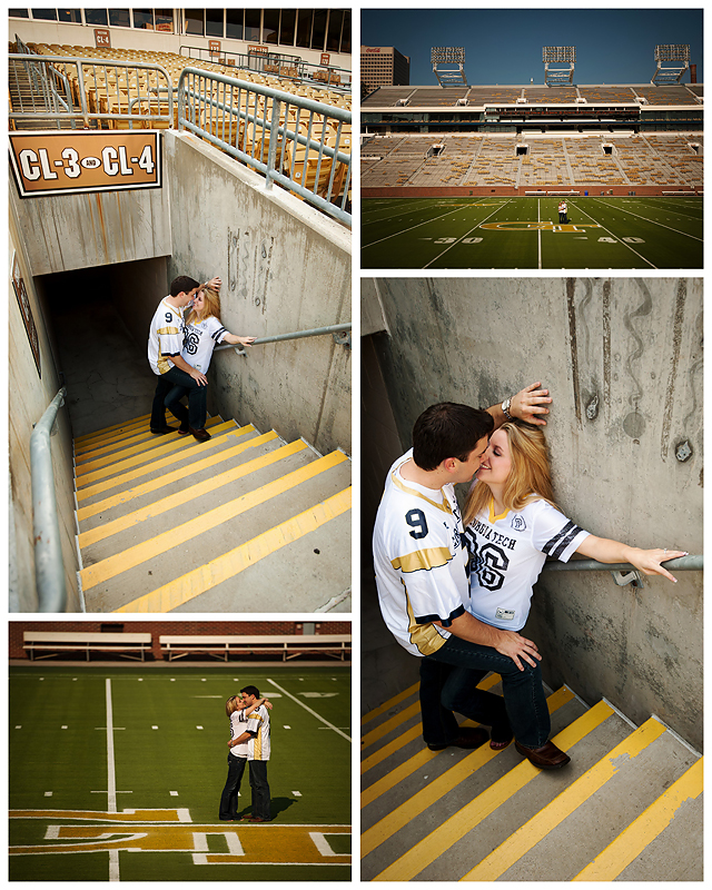 Jesse LShea Enagement1webS Yellow Jacket Love   BerryTree Photography : Atlanta, GA Engagement Photographer