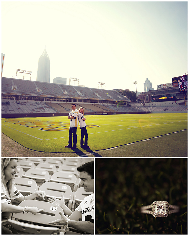 Jesse LShea Enagement2webS Yellow Jacket Love   BerryTree Photography : Atlanta, GA Engagement Photographer