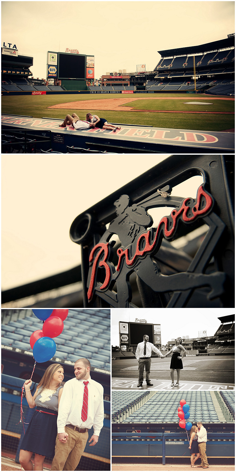 Braves Engagement Final1 web Atlanta Braves Engagement – BerryTree Photography | Atlanta GA | Wedding Photographer