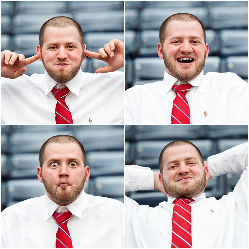 Braves Engagement Funny Faces1 web Atlanta Braves Engagement – BerryTree Photography | Atlanta GA | Wedding Photographer