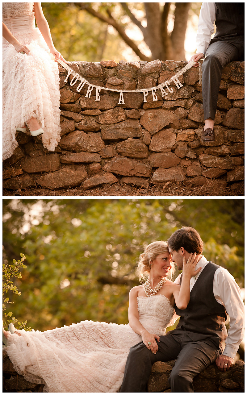 Peach Stylized Shoot14 Georgia Peach Stylized Wedding | Style Me Pretty | Madison Oaks Inn & Gardens