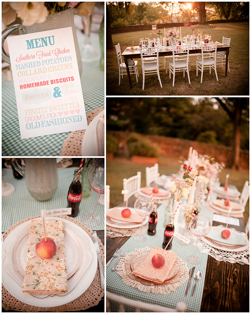 Peach Stylized Shoot31 Georgia Peach Stylized Wedding | Style Me Pretty | Madison Oaks Inn & Gardens