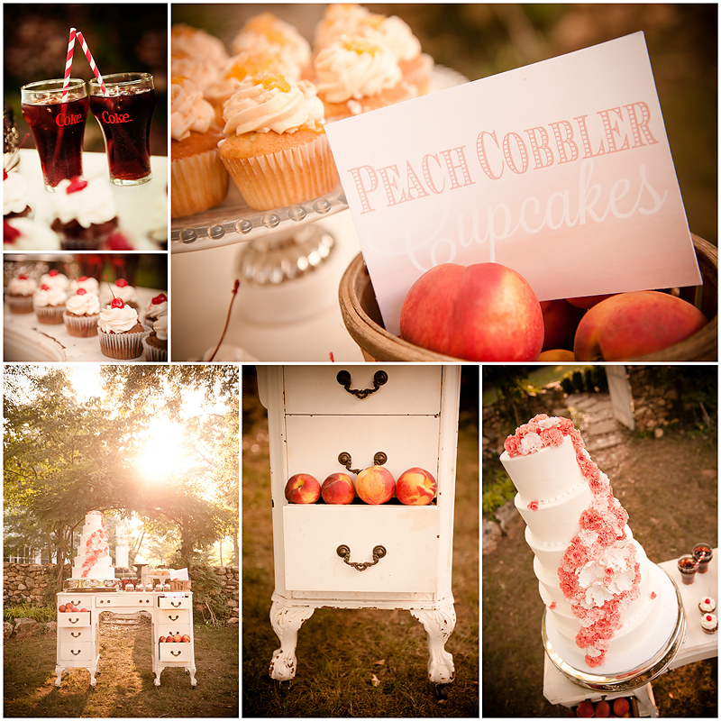 Peach Stylized Shoot7 Georgia Peach Stylized Wedding | Style Me Pretty | Madison Oaks Inn & Gardens